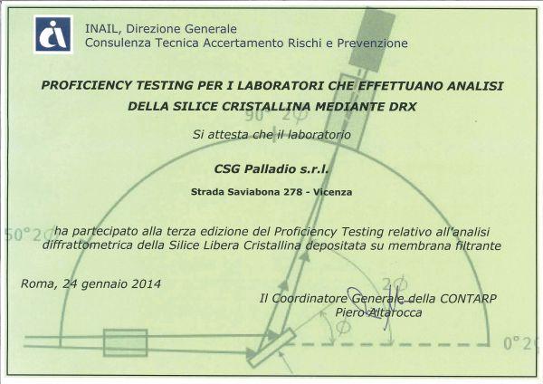 Interlaboratorio INAIL 2013